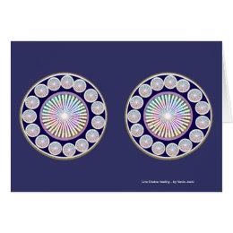 Multiple CHAKRA  -  Sparkle n Live Mandala Card