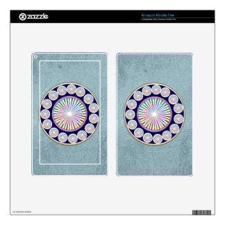 Multiple CHAKRA  -  Sparkle n Live Mandala Decal For Kindle Fire