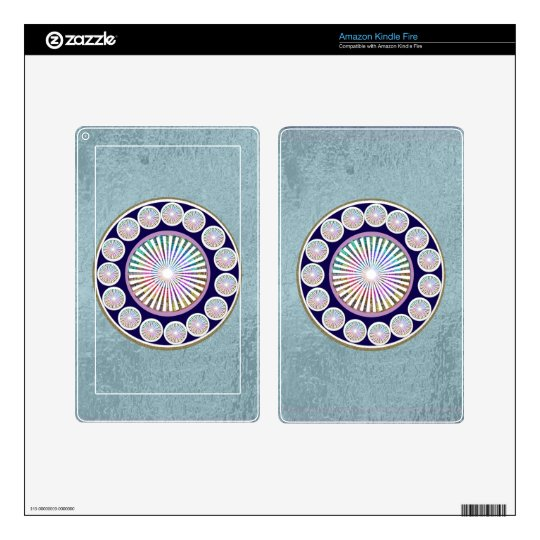 Multiple CHAKRA  -  Sparkle n Live Mandala Decals For Kindle Fire