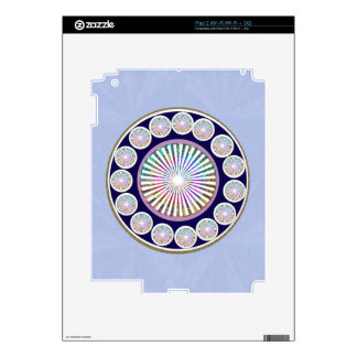 Multiple CHAKRA  -  Sparkle n Live Mandala Decals For The iPad 2