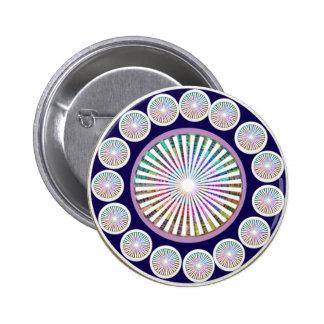 Multiple CHAKRA  -  Sparkle n Live Mandala Pinback Button