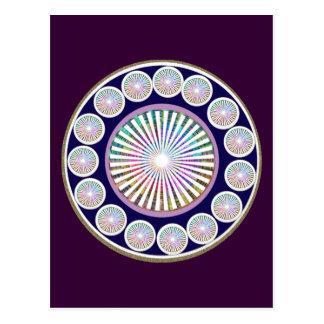 Multiple CHAKRA  -  Sparkle n Live Mandala Postcard