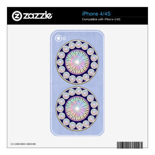 Multiple CHAKRA  -  Sparkle n Live Mandala Skin For The iPhone 4