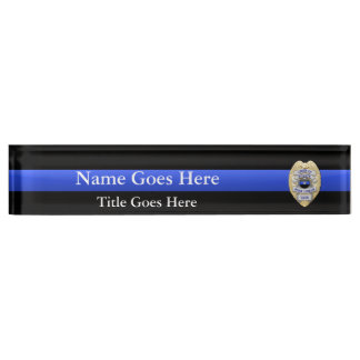 Multiple Choice Chief of Police 1-Star Badges Nameplate