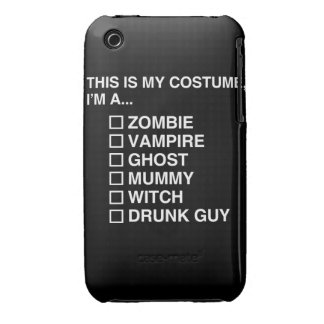 MULTIPLE CHOICE HALLOWEEN COSTUME GUY iPhone 3 Case-Mate CASES