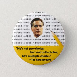 Multiple Choice Mitt Romney Button