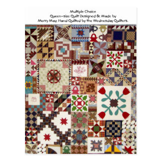 Multiple Choice Quilt Postcard