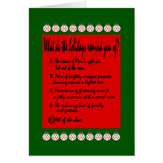 Multiple choice cards greeting photo cards zazzle multiple choice the holidays remind you of card stopboris Image collections
