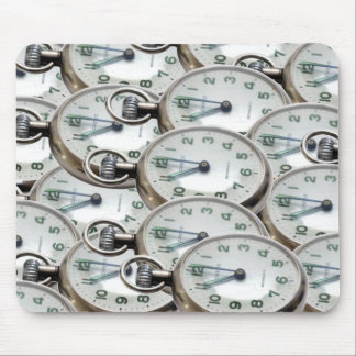 Multiple Clock Faces Mouse Pad