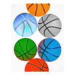 "Multiple Colored Basketballs 8.5"" X 11"" Flyer"