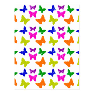 Multiple Colored Butterflies Pattern Post Cards