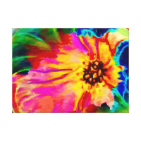 Multiple Colored Flower accent Canvas Print