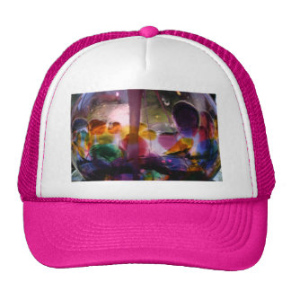 Multiple Colored Glass Maze Mesh Hats