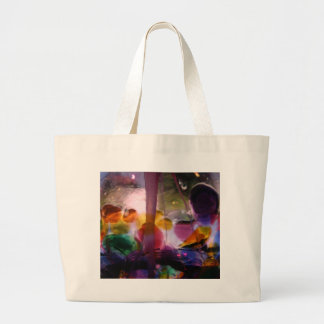 Multiple Colored Glass Maze Large Tote Bag
