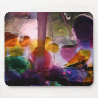 Multiple Colored Glass Maze Mouse Pad