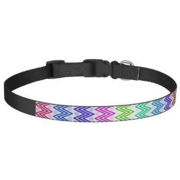 Aztec Themed Multiple Colored Zigzag Pet Collar