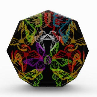 Multiple colorful butterflies acrylic award