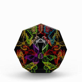 Multiple colorful butterflies award