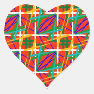 Multiple Colors Heart Sticker