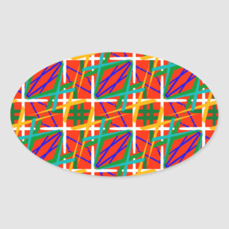 Multiple Colors Oval Sticker
