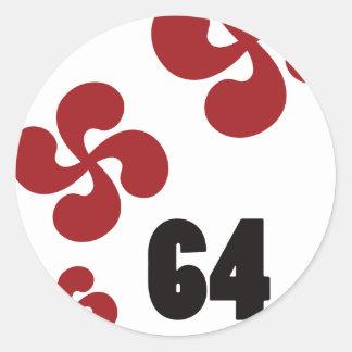Multiple croix64.ai classic round sticker