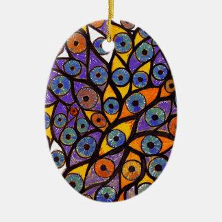 Multiple Eyes Ceramic Ornament