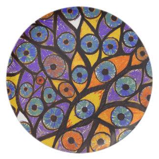 Multiple Eyes Dinner Plate
