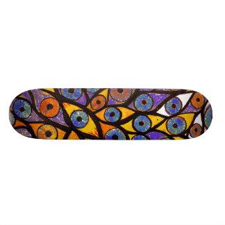 Multiple Eyes Skateboard Deck