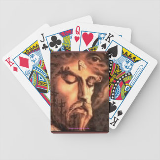 MULTIPLE FACES OF JESUS BICYCLE PLAYING CARDS