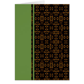 Multiple Flames Grid Stationery Note Card