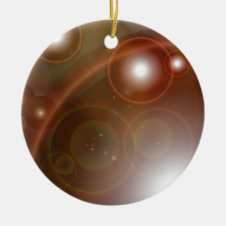 Multiple flare background ceramic ornament