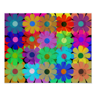 multiple flowers poster