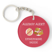 Multiple Food Allergy Alert Keychain
