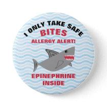 Multiple Food Allergy Alert Shark Button