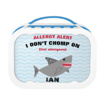 Multiple Food Allergy Alert Shark Lunchbox