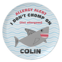 Multiple Food Allergy Alert Shark Plate