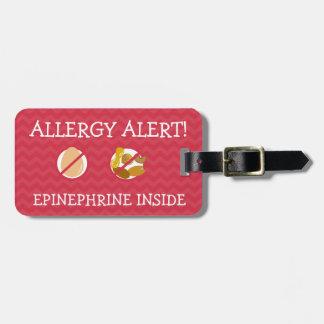 Multiple Food Allergy Alert Tag for Medical Kit