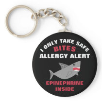 Multiple Food Allergy Shark Kids Personalized Keychain