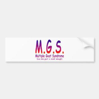 Multiple Goat Syndrome Bumper Sticker