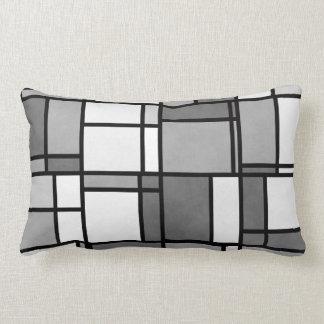 Multiple Gray White Mondrian Inspired Pattern Pillows
