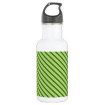 Multiple green striped pattern water bottle