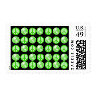 Multiple Green World Peace Postage