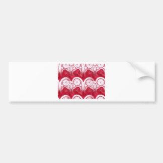 multiple hearts bumper sticker
