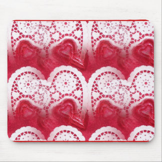 multiple hearts mouse pad