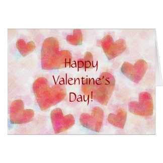 Multiple Hearts Valentine Card