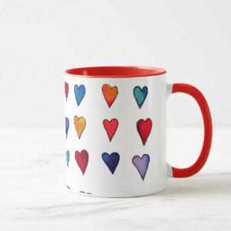 Multiple I LOVE YOU mug