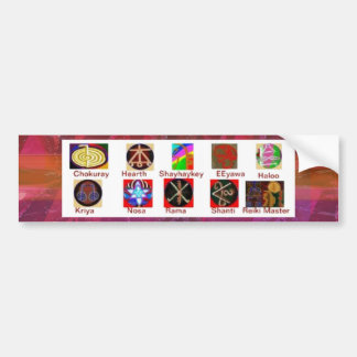 MULTIPLE Image Art - Reiki Karuna Holistic Bumper Sticker