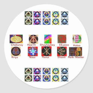 MULTIPLE Image Art - Reiki Karuna Holistic Classic Round Sticker