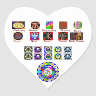 MULTIPLE Image Art - Reiki Karuna Holistic Heart Sticker