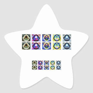 MULTIPLE Image Art - Reiki Karuna Holistic Star Sticker